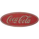 Coca-Cola Oval Wood Wall Decor