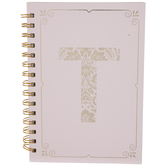 Pink & Gold Foil Letter Journal - T