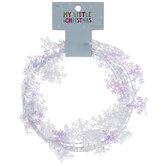 Mini Iridescent Snowflake Garland