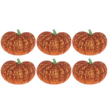 Glitter Pumpkin Shank Buttons
