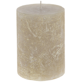 Distressed Gold Pillar Candle