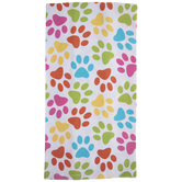 Bright Paw Prints Kitchen Towel