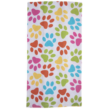 Bright Paw Prints Kitchen Towel