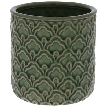 Green Wavy Scales Vase