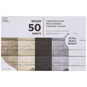 "Wood Cardstock Paper Pack - 8 1/2"" x 11"""