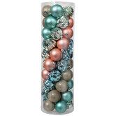Coastal Matte, Shiny & Glitter Ball Ornaments