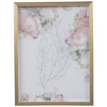 Pastel Floral Framed Wall Decor