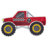 Monster Truck Painted Wood Shape