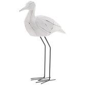 White & Black Standing Sea Bird