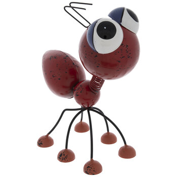 Red Metal Ant With Big Eyes