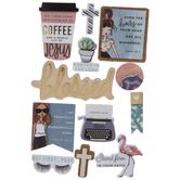 Coffee & Jesus 3D Stickers