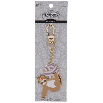 Sloth & Yarn Ball Enamel Keychain