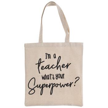 Teacher Canvas Tote Bag
