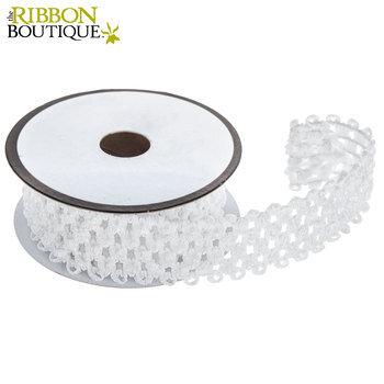"Whisper White Elastic Headband Ribbon - 1 1/2"""