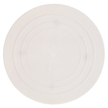 "White Round Cake Separator Plate - 12"""