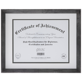 "Gray Slanted Document Frame - 11"" x 8 1/2"""