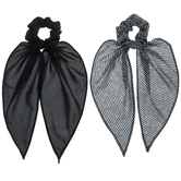 Black & White Scarf Scrunchies