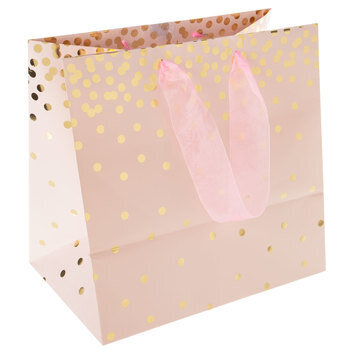 Pink & Gold Confetti Gift Bag