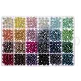 Assorted Round Glass Pearl Beads - 8mm