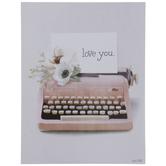 Love You Typewriter Wood Decor