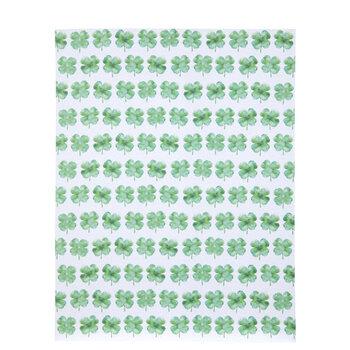 "Green Watercolor Shamrocks Paper - 8 1/2"" x 11"""