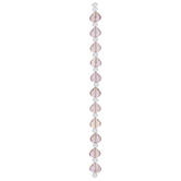 Pink Faceted Teardrop Bead Strand