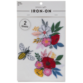 Flower & Bee Iron-On Appliques