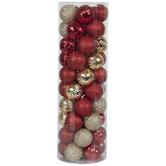 Red & Gold Matte, Shiny & Glitter Ball Ornaments
