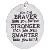 You Are Braver Pendant