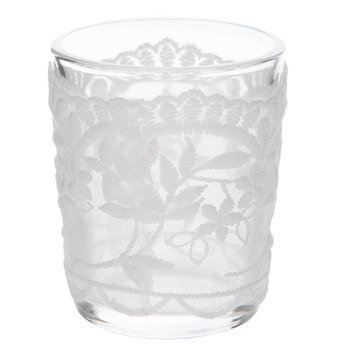 Glass Candle Holders With Lace
