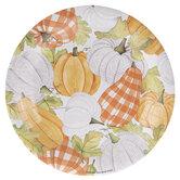 Orange & White Pumpkins Paper Plates - Large