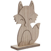 Standing Fox Wood Decor