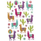 Llama & Cactus Stickers