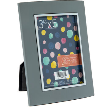 "Gray Metal Frame - 3 1/2"" x 5"""