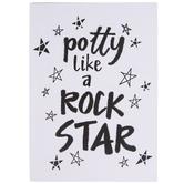 Potty Like A Rock Star Wood Wall Decor