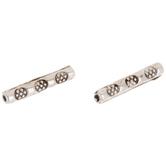 Textured Metal Tube Beads - 14mm
