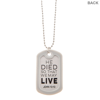 Savior Dog Tag Necklace