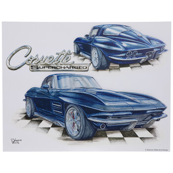 Corvette Supercharged Wood Wall Decor