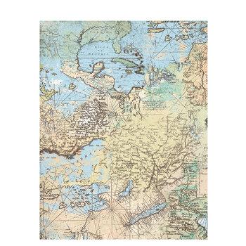 "Map Scrapbook Paper - 8 1/2"" x 11"""
