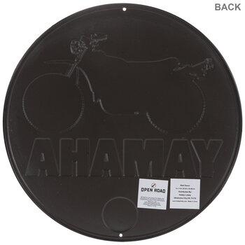 Yellow & White Yamaha Circle Metal Sign