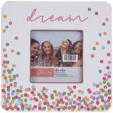 """Dream Confetti Wood Frame - 4"""" x 4"""""""