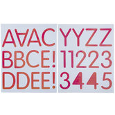 Iridescent Pink Rounded Alphabet Stickers
