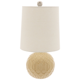 Yellow Trellis Ball Lamp