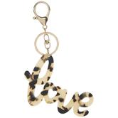 Love Leopard Print Keychain