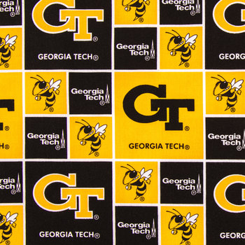 Georgia Tech Block Collegiate Cotton Fabric