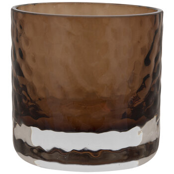 Dimpled Glass Candle Holder