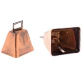 "Antique Copper Cow Bell - 2 1/4"""