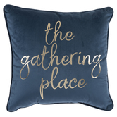 Blue Velvet The Gathering Place Pillow