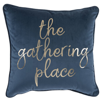 Blue Velvet The Gathering Place Pillow