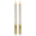 Ombre Gold LED Taper Candles